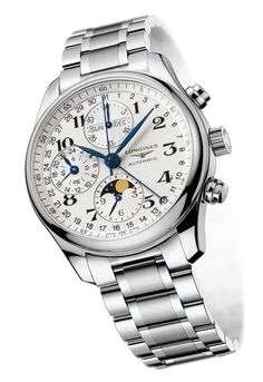 Longines Tradition Master Collection Moon Phase Full Calendar Chronograph Watch #luxurywatch #Longines-swiss Longines Swiss Watchmakers watches #horlogerie @calibrelondon