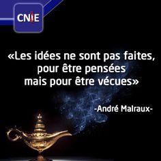 Bonjour tout le monde :) Les idées ne sont pas faites, pour être pensées mais pour être vécues. #quoteoftheday #positive #inspiration