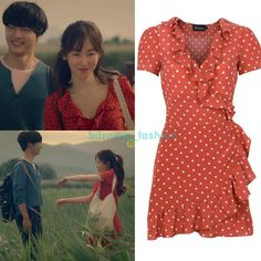 """315 curtidas, 2 comentários - @kdrama_fashion no Instagram: """"Seo Hyun Jin wore RÉALISATION The Valentina_Rust Spot $180 in Temperature Of Love Trailer. Photo…"""""""
