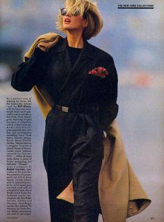 "80s-90s-supermodels: """"A New Approach"", VOGUE US, September 1984 Photographer: Hans Feurer Model: Ashley Richardson """