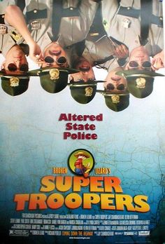 Super Troopers , starring Jay Chandrasekhar, Kevin Heffernan, André Vippolis, Joey Kern. Five Vermont state troopers, avid pranksters with a knack for screwing up, try to save their jobs and out-do the local police department by solving a crime. #Comedy #Crime #Mystery