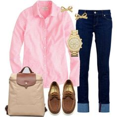 Typical preppy school girl things to wear preppy outfits, fa - School outfits preppy casual - Preppy Mode, Preppy Casual, Style Casual, Preppy Style, Casual Chic, Preppy School Girl, School Girl Outfit, Preppy Outfits For School, Preppy Girl Outfits