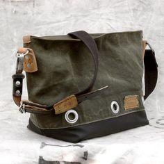Kitbag Canvas Tote Bag // riciclata e Rifinalizzato da peace4you, GERMANIA // Modello mimi-1896