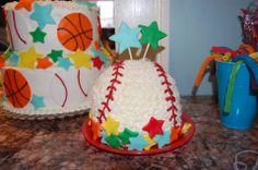 Sports 1st Birthday Cake #2