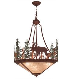 Wandering Moose 3 Light Inverted Pendant