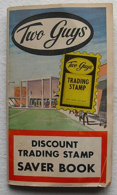 two guys department store   Two Guys Department Store Stamp Booklet Cover
