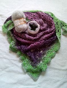 cake yarn combined with ancora