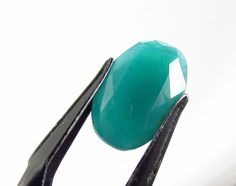 4.89 ct Oval Cut Blue-Green Gem Silica Chrysocolla 15 x 10 mm Untreated #JewelsRoughGems