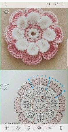 Watch The Video Splendid Crochet a Puff Flower Ideas. Phenomenal Crochet a Puff Flower Ideas. Crochet Video, Crochet Diagram, Crochet Chart, Love Crochet, Crochet Motif, Diy Crochet, Crochet Stitches, Crochet Flower Tutorial, Crochet Flower Patterns