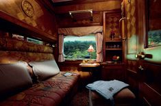 "Like James Taylor says: ""I've never really been/but I'd sure like to go..."" This is an Orient Express Pullman Cabin."