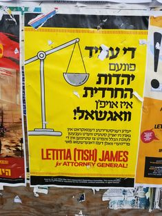 Hasidim urged to vote for James for AG 2018 Attorney General, Street Signs, Tour Guide, Community, How To Get, Learning, Studying, Teaching, Travel Guide