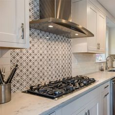 A #kitchen #backsplash serves as a beautiful #featurewall in this #kitchenremodel. -- Image discovered via @gardenstatetile's Facebook page -- #tile collections by Adex / #tiletuesday #subwaytile #subwaytiles #tiles #tiled #whitekitchen #backsplashideas #tiling #tiledesign #pattern #grey #interior #interiors #interiordesign #interiordesigner #idcdesigners #tiledesign #interiorinspiration #kitchendesign #splashback #walltiles #instahome #instadecor #homedecor by tiletuesday