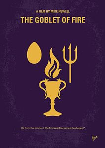 Harry Potter Digital Art - No101-4 My Hp - Goblet Of Fire Minimal Movie Poster by Chungkong Art