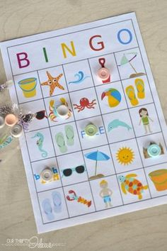 Summer Bingo is so easy for all ages to play and enjoy! Grab your Summer Bingo Printables and get started! Craft Activities For Kids, Summer Activities, Crafts For Kids, Senior Activities, Nature Activities, Christmas Activities, Family Activities, Summer Games, Free Summer