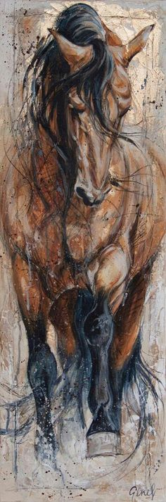 Awesome Horse Art by Elise Genest. Horse Drawings, Animal Drawings, Art Drawings, Arte Equina, Horse Artwork, Art Abstrait, Animal Paintings, Horse Paintings, Pastel Paintings