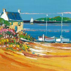 Oeuvre Paysage - Ete en Bretagne - Liisa Corbière - Huile