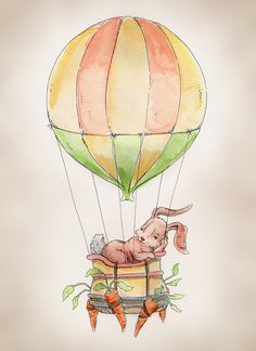 Going in a slightly different direction from the airplane room, still aviation, but Hot Air Balloon with a rabbit :D