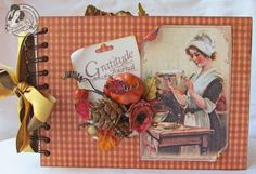 Gloria Stengel outdid herself today with this glorious gratitude Place in Time mini using lots of papers from various collections. You must click to see each page! It even has the dimensions to make your own! #graphic45