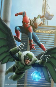 """youngjusticer: """"Homecoming will feature Vulture as the villain, a rather offbeat choice. Although adding an unusual villain might prove interesting, there is a darker, creepier foe waiting for his. Comic Book Characters, Marvel Characters, Marvel Movies, Comic Books Art, Marvel Art, Marvel Dc Comics, Marvel Heroes, All Spiderman, Amazing Spiderman"""