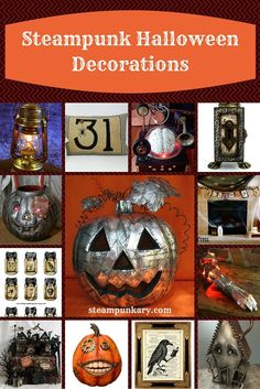 If you are a steampunk fan, you will love these incredible steampunk Halloween decorations. Some of them are handmade by artists and craftsman, and others are DIY projects that you can make at home.