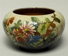 Barbotine is ceramic with relief naturalistic decorations