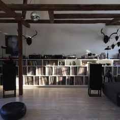 What a record collection and home listening setup