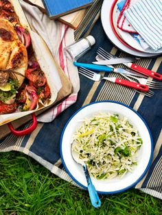 Cabbage and fennel slaw