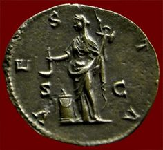 vesta coin from ancient rome