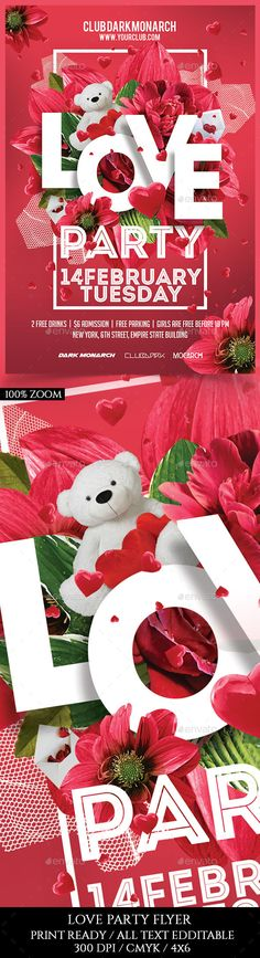Love Party Flyer Template PSD