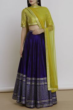 Indian designer navy blue color lehenga choli for wedding outfit. For order whatsapp us on wedding outfits wedding dress wedding dresses lengha lehnga sabyasachi manish malhotra Half Saree Designs, Lehenga Designs, Dress Designs, Blouse Designs, Indian Wedding Outfits, Indian Outfits, Pakistani Outfits, Indian Designer Outfits, Designer Dresses