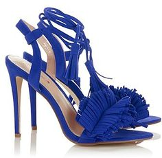 Womens cobalt blue fashion union fringe heels from Lipsy - £40 at ClothingByColour.com