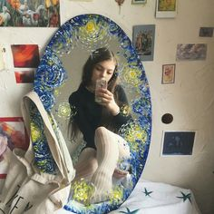 Do you like Van Gogh? -sere @ watercolor Do you like Van Gogh? -sere @ watercolor Do you like Van Gogh? -sere @ watercolor Do you like Van Gogh? Art Hoe Aesthetic, Aesthetic Rooms, Aesthetic Vintage, Aesthetic Painting, Aesthetic Videos, Aesthetic Grunge, Arte Van Gogh, Mirror Painting, Painting Art