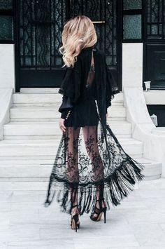 Black lace kimono. http://www.publicdesire.com