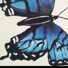 Butterfly, unfinished painting by moi :)