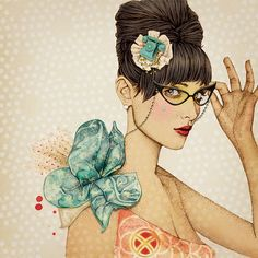 She is stunning! Gorgeous illustrations by Ëlodie for La Marelle