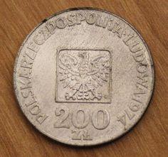 1974 Circulated Poland 200 Zloty Silver Coin