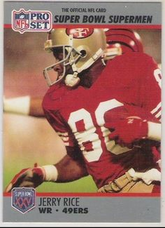 1990-91 Pro Set Super Bowl 160 48 Jerry Rice (Football Cards) by Pro Set Super Bowl 160. $0.88. 1990-91 Pro Set Super Bowl 160 48 Jerry Rice (Football Cards)
