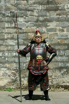 Reproduction of a Song Dynasty lamellar armour. This suit of armour is made by…