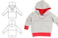 Kids hoodie pattern pdf snap tab unique style by brindilleandtwig