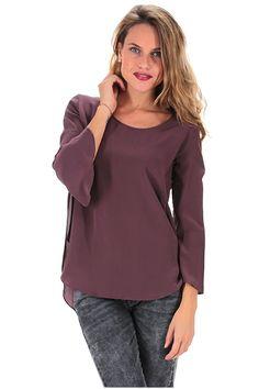 MANILA GRACE - Camicie - Abbigliamento - Camicia in seta con manica a 3/4 e…