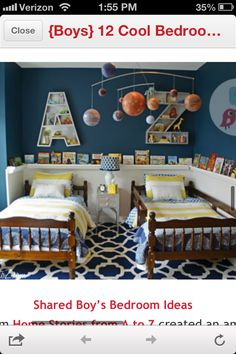 Boy room - world map instead of the letters