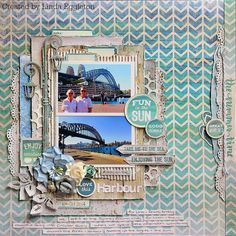 All About Scrapbooks - Kaisercraft Sandy Toes - By Linda Eggleton