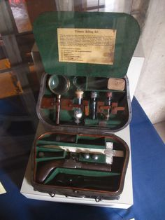 19th century vampire killing kit, at the mercer museum. it's an actual thing. not a prop. not a joke.
