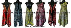 Iris Maxi Goddess Scarf Dresses From Enwrapture Vintage Got this last night in a beautiful black and purple print. (A favorite color pairing!) Vio~