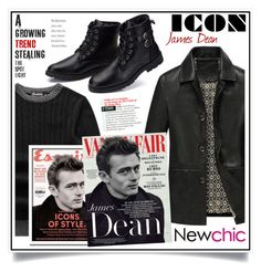 """""""Newchic - James Dean Icons of style III/2"""" by ewa-naukowicz-wojcik ❤ liked on Polyvore featuring men's fashion and menswear"""