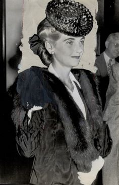 CANADA - AUGUST 31: Barbara Hutton; thrice-wed dime store heiress; is being sworn here as she prepares to give evidence which won her an uncontested divorce from Cary Grant; the actor.
