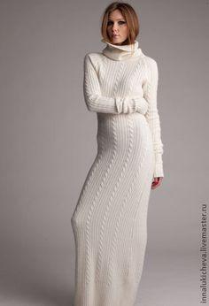 """Ручная работа: Платье длинное """"Ангорка"""" (итальянская ангора), 44-46 размер, $287"""