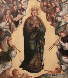 1501-25—Portugal: Assumption of the Virgin (Assunção da Virgem), a painting attributed to Cristovão de Utreque (Museu Municipal Leonel Trindade).