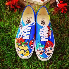 Super Mario Vans Shoes on Etsy, $110.00