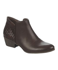 Look what I found on #zulily! Brown Embossed Paige Bootie #zulilyfinds